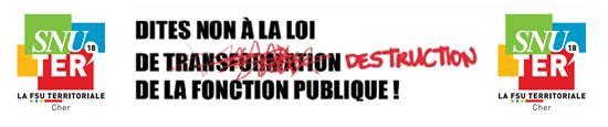 Le SNUTER 18-FSU, syndicat national unitaire des territoriaux du Cher